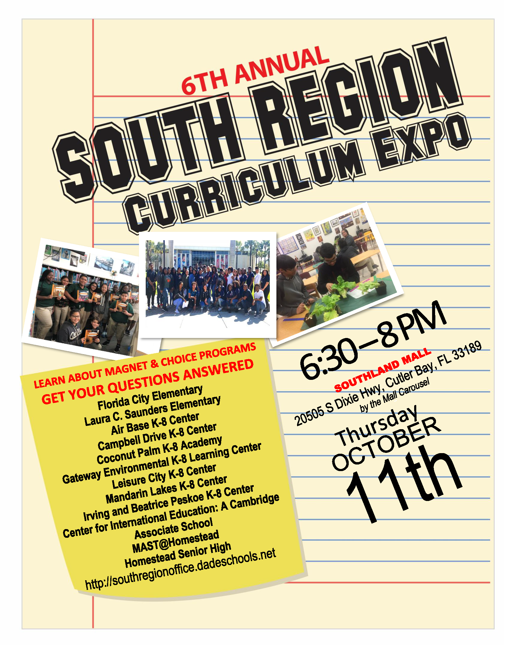 South Region Curriculum Expo @ Southland Mall